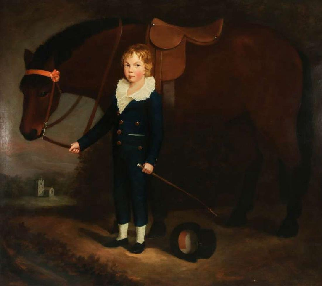 PORTRAIT OF FRANCIS HOPKINS AND HIS PONY C. 1830