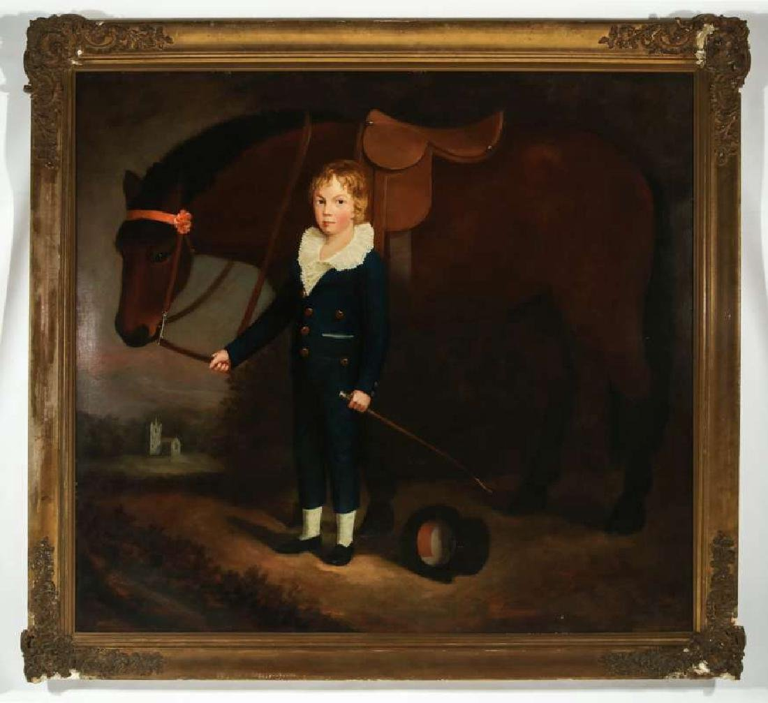 PORTRAIT OF FRANCIS HOPKINS AND HIS PONY C. 1830 - 2