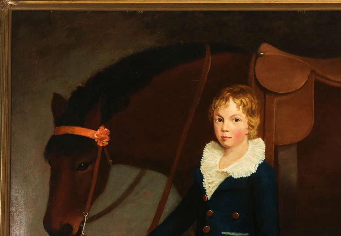 PORTRAIT OF FRANCIS HOPKINS AND HIS PONY C. 1830 - 3