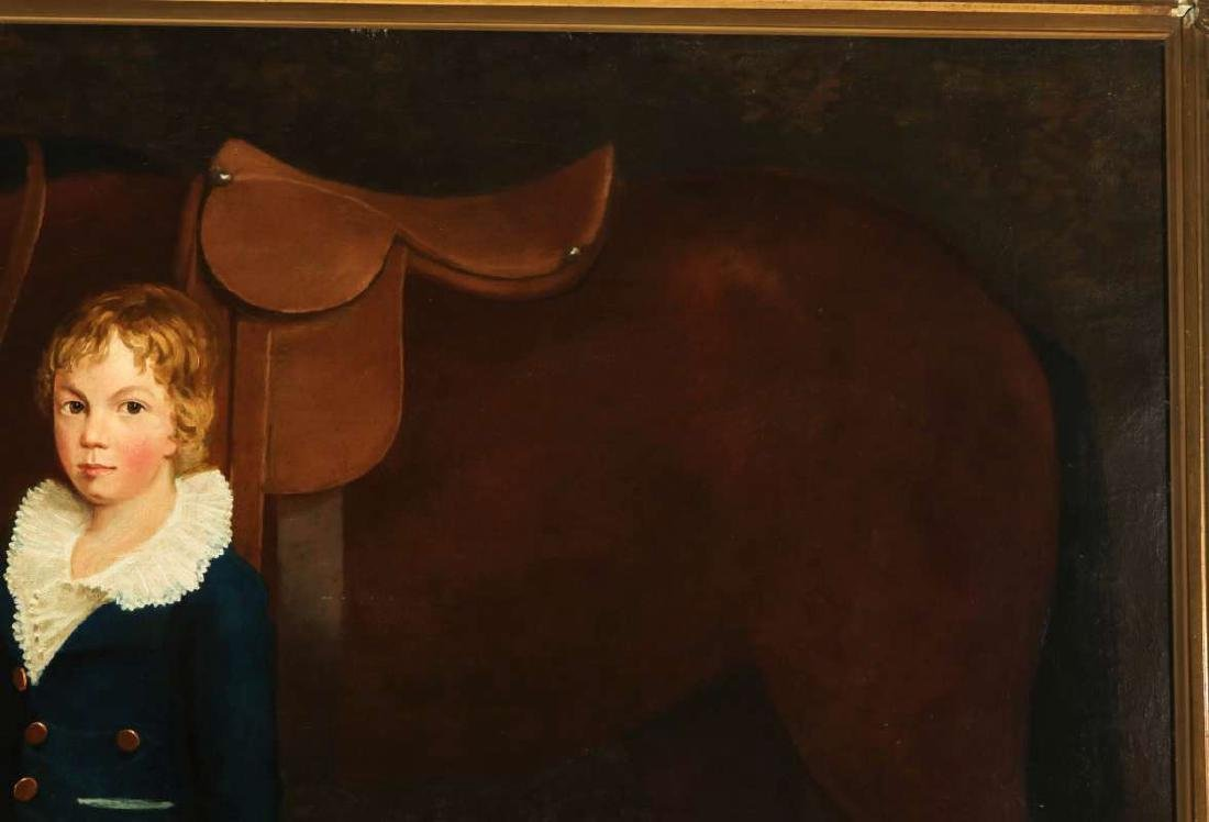 PORTRAIT OF FRANCIS HOPKINS AND HIS PONY C. 1830 - 4