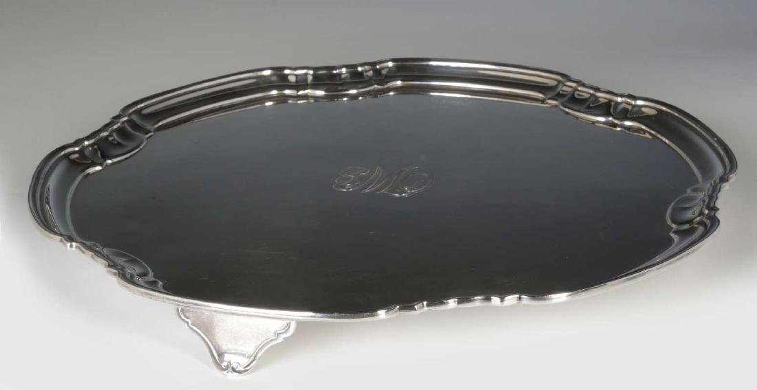 A T&CO STERLING SILVER SALVER, SHEFFIELD 1932 - 10