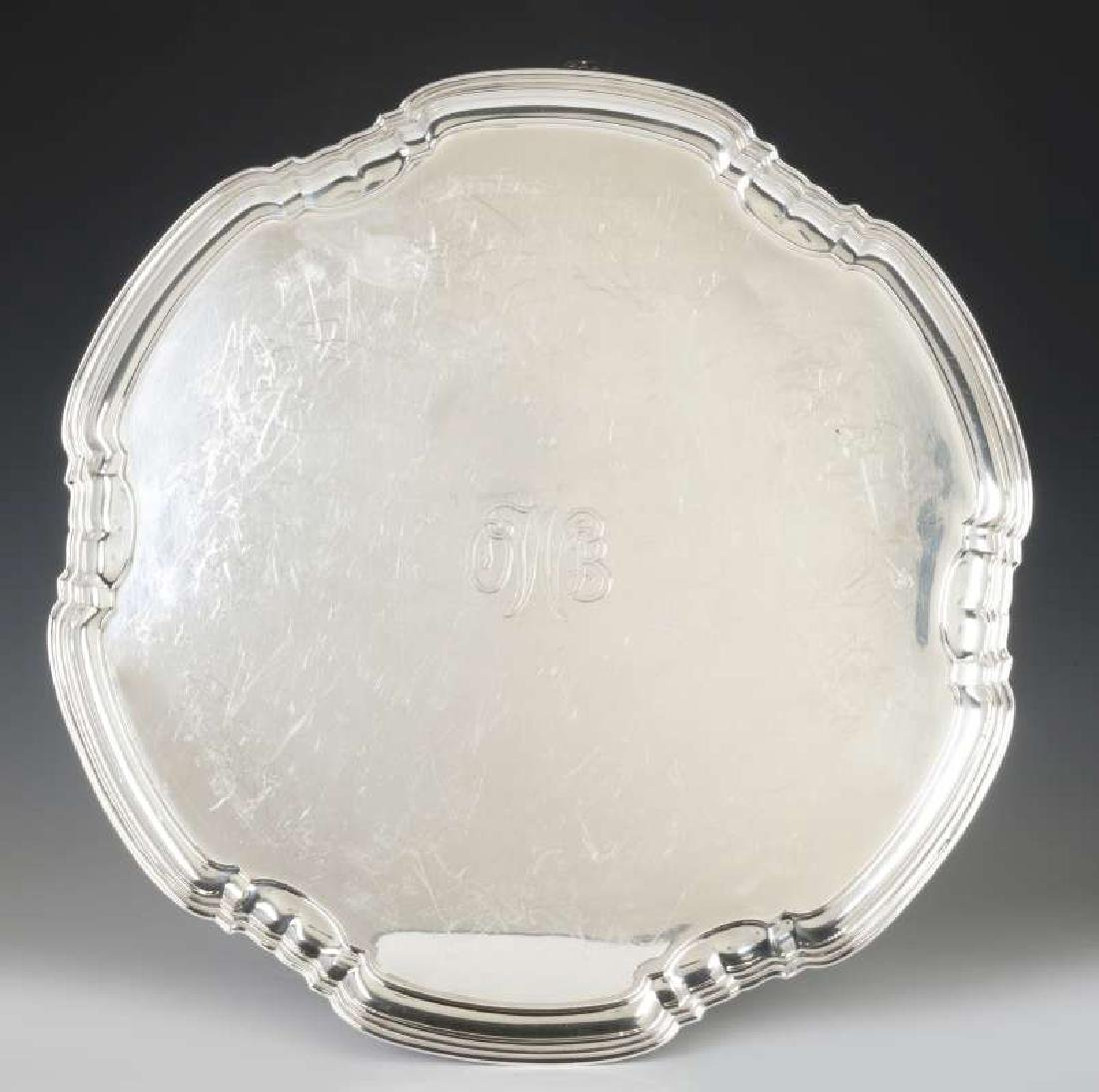 A T&CO STERLING SILVER SALVER, SHEFFIELD 1932