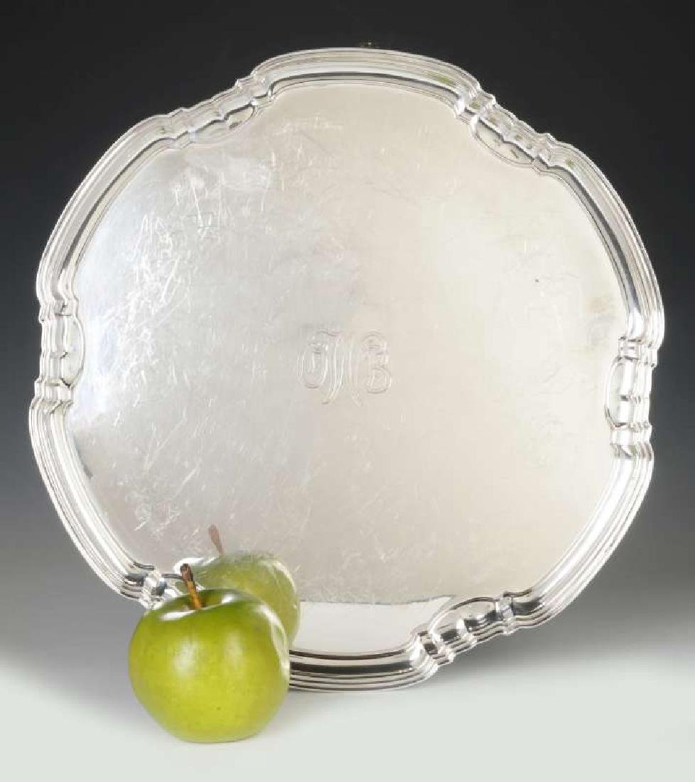A T&CO STERLING SILVER SALVER, SHEFFIELD 1932 - 2