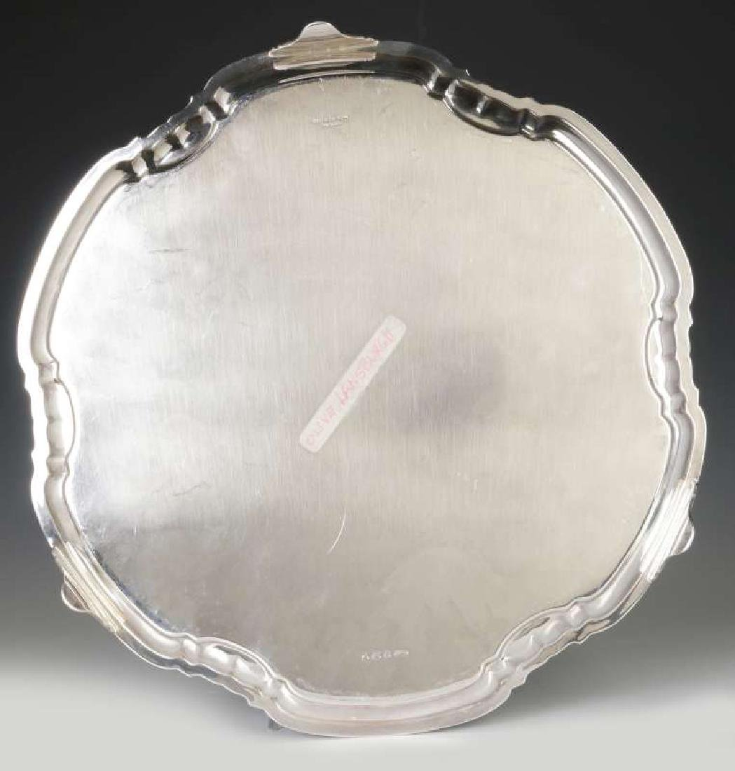 A T&CO STERLING SILVER SALVER, SHEFFIELD 1932 - 8