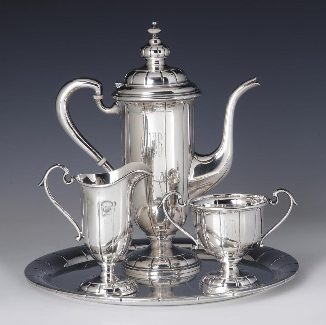 A JULIUS RANDAHL COFFEE SET FOR CALDWELL & CO