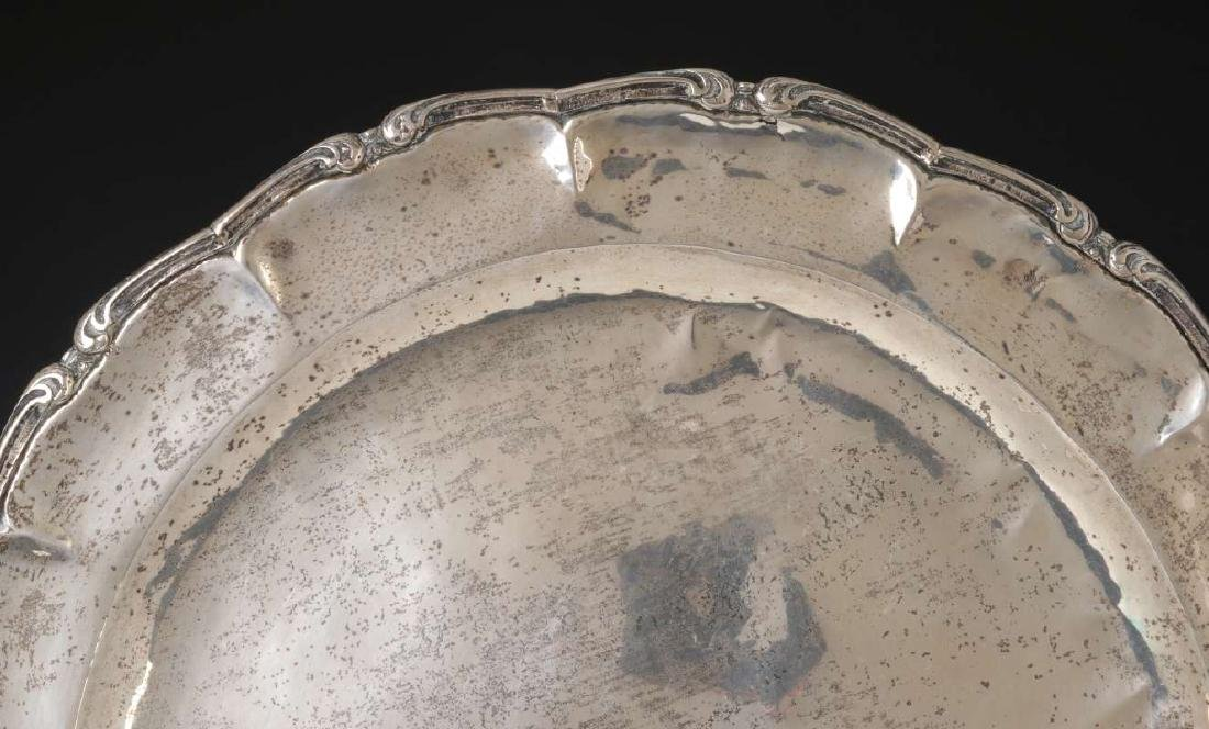 A MEXICAN STERLING SILVER CHARGER - 3