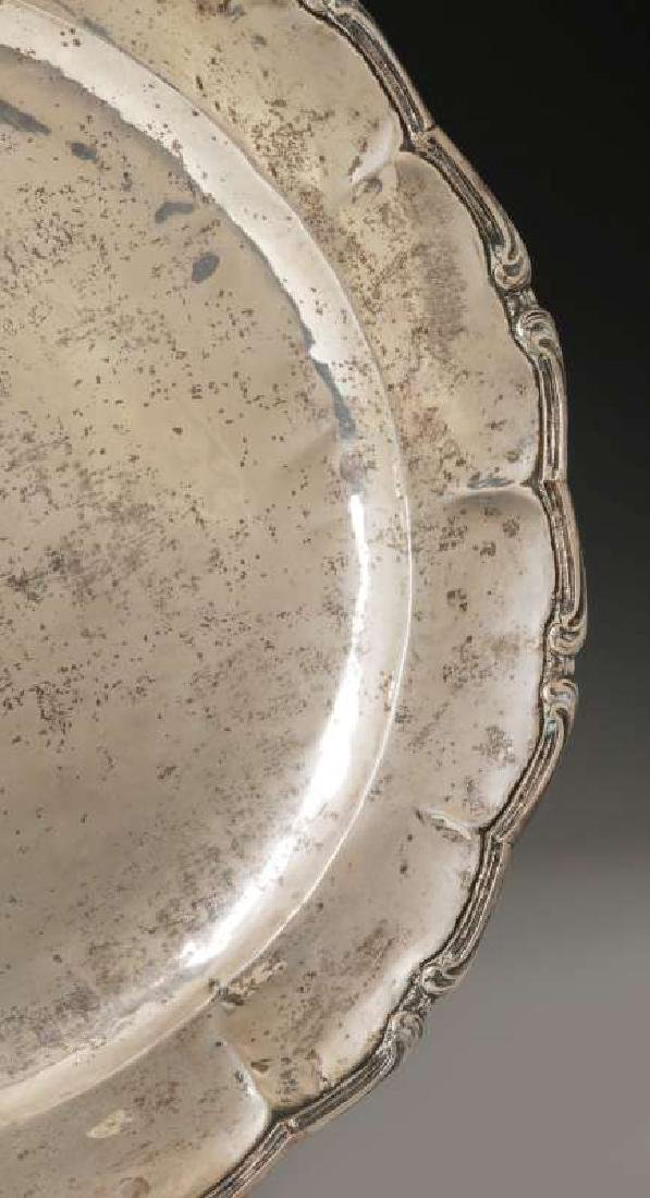 A MEXICAN STERLING SILVER CHARGER - 4