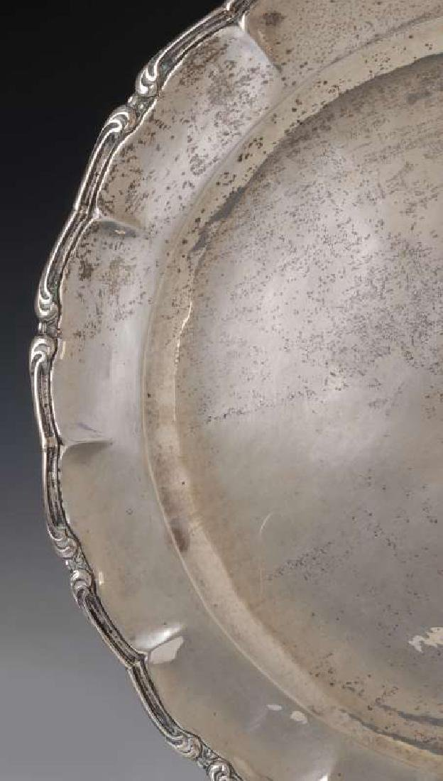 A MEXICAN STERLING SILVER CHARGER - 6