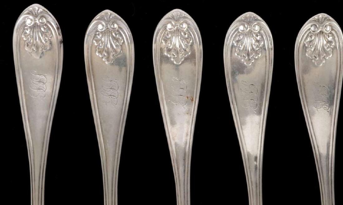 SIX W.W. WATTLES COIN SILVER FORKS - 2