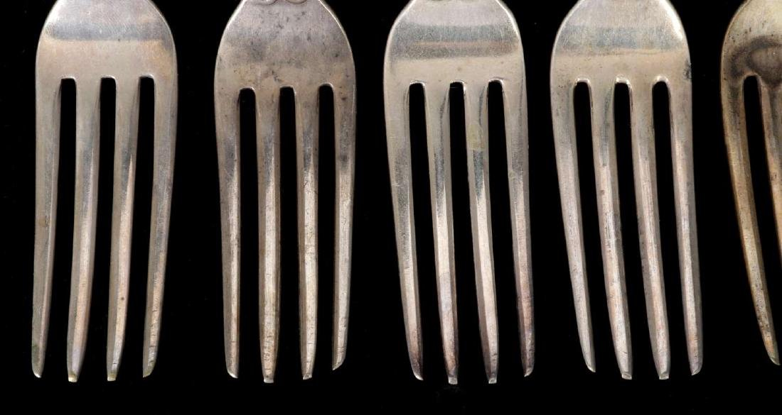 SIX W.W. WATTLES COIN SILVER FORKS - 3