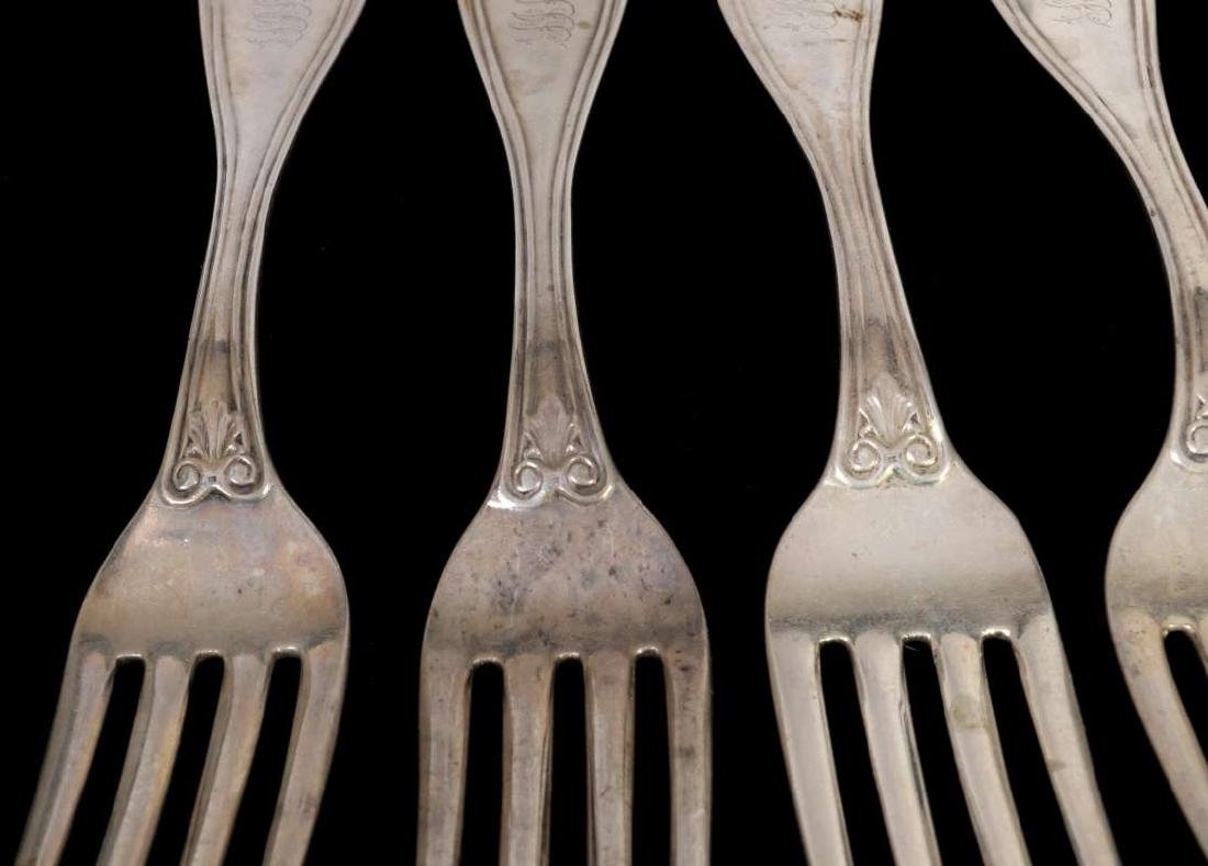 SIX W.W. WATTLES COIN SILVER FORKS - 4