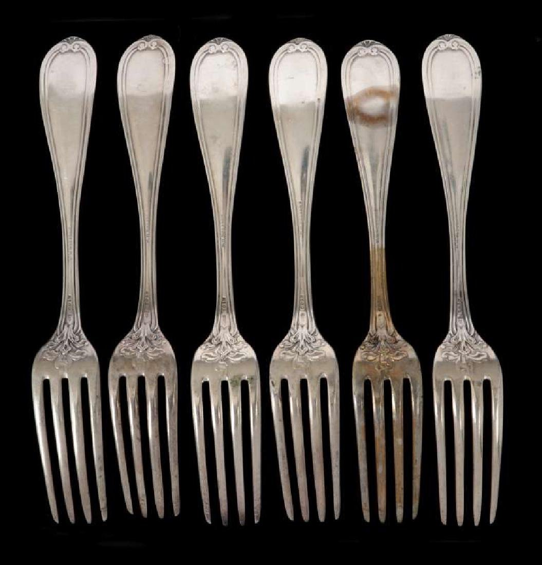 SIX W.W. WATTLES COIN SILVER FORKS - 5