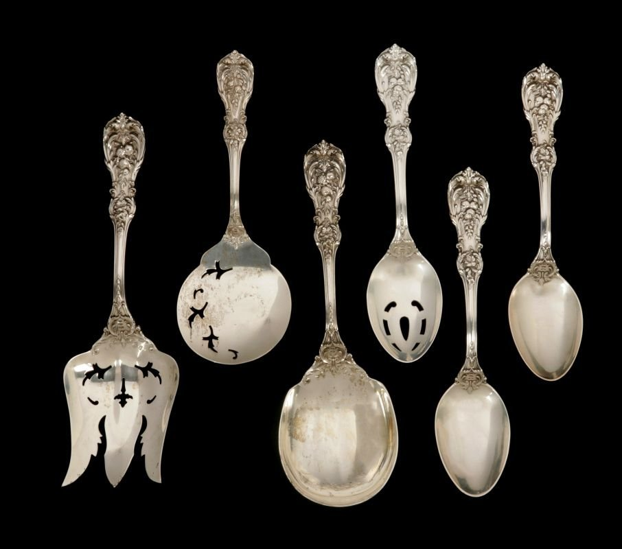 A 145-PC. FRANCIS I STERLING SILVER FLATWARE SET - 2