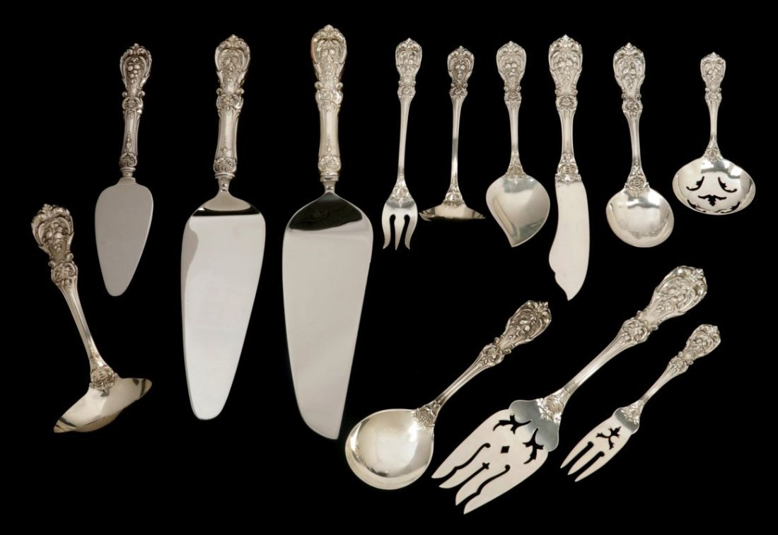 A 145-PC. FRANCIS I STERLING SILVER FLATWARE SET - 3