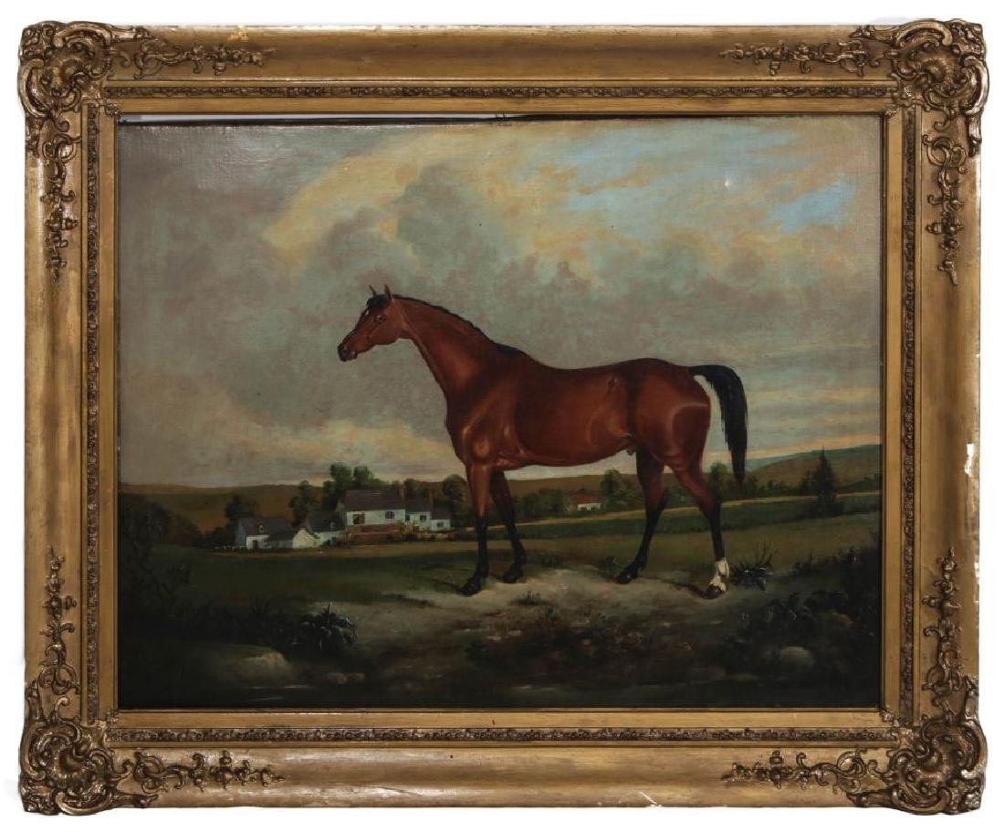 AN EARLY 19TH C BRITISH SCHOOL EQUINE PORTRAIT - 2