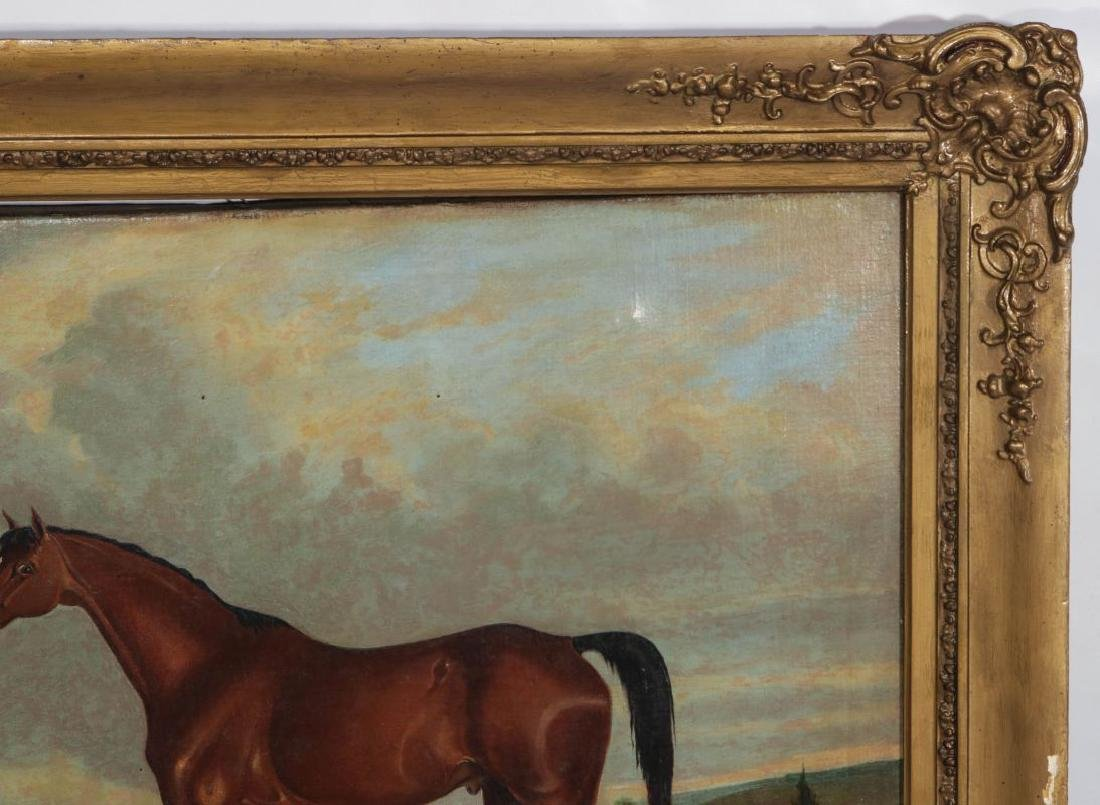 AN EARLY 19TH C BRITISH SCHOOL EQUINE PORTRAIT - 4