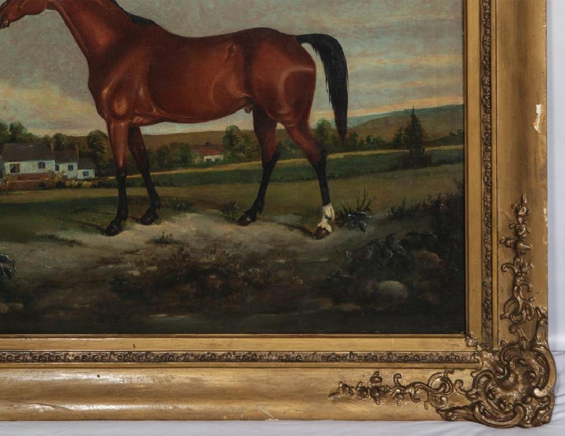 AN EARLY 19TH C BRITISH SCHOOL EQUINE PORTRAIT - 5