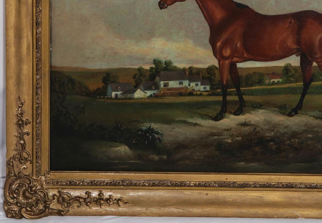 AN EARLY 19TH C BRITISH SCHOOL EQUINE PORTRAIT - 6