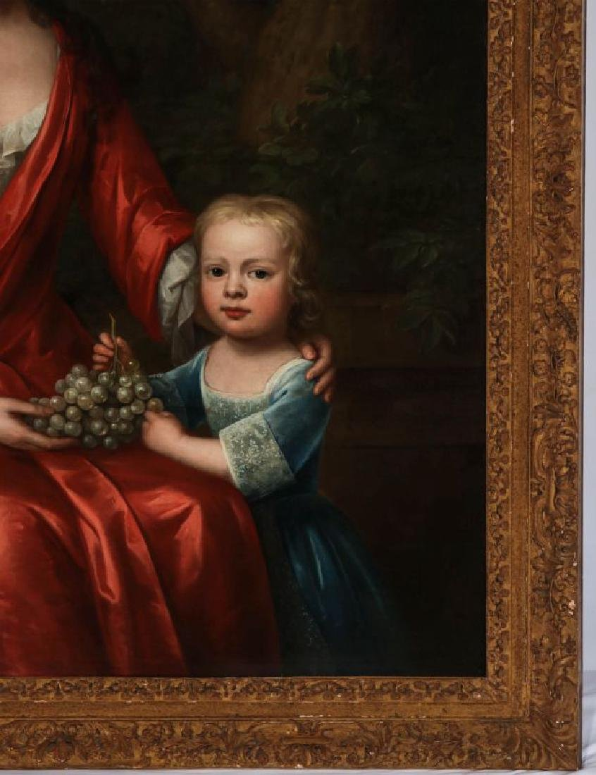AN 18TH C. BRITISH SCHOOL MOTHER & CHILD PORTRAIT - 5