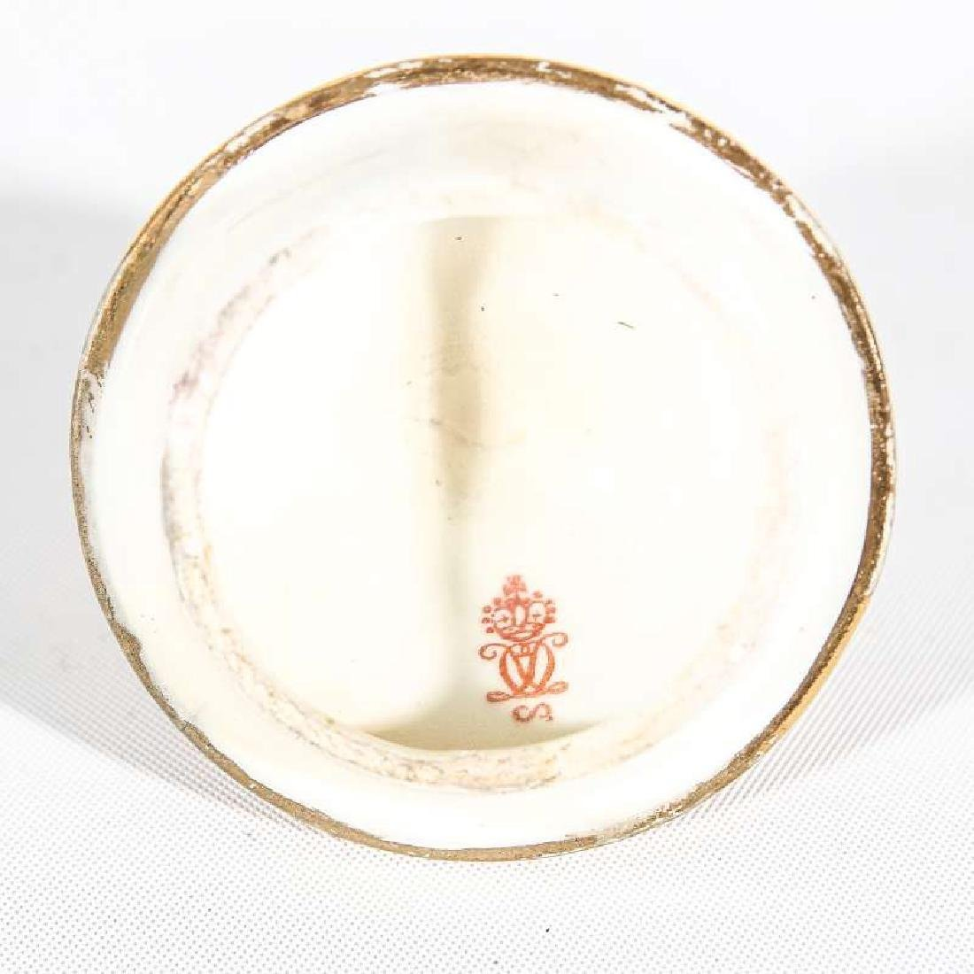A LATE 19TH C. ROYAL CROWN DERBY COVERED VASE - 7