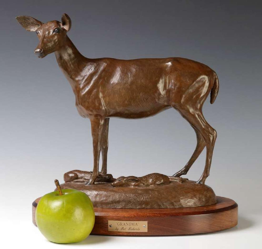 PAT ROBERTS (AMERICAN 20TH C.) BRONZE SCULPTURE - 2