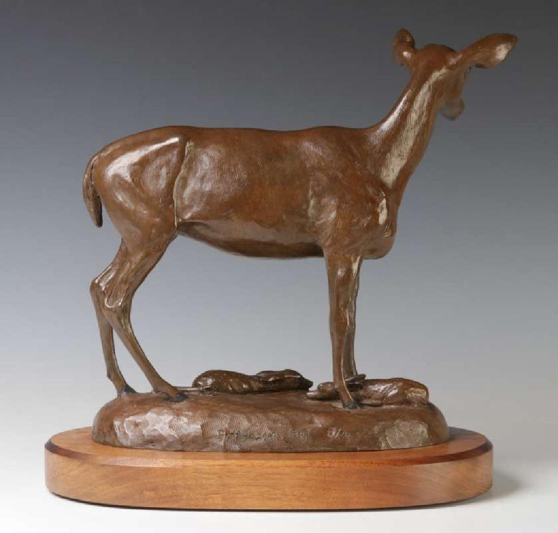 PAT ROBERTS (AMERICAN 20TH C.) BRONZE SCULPTURE - 6