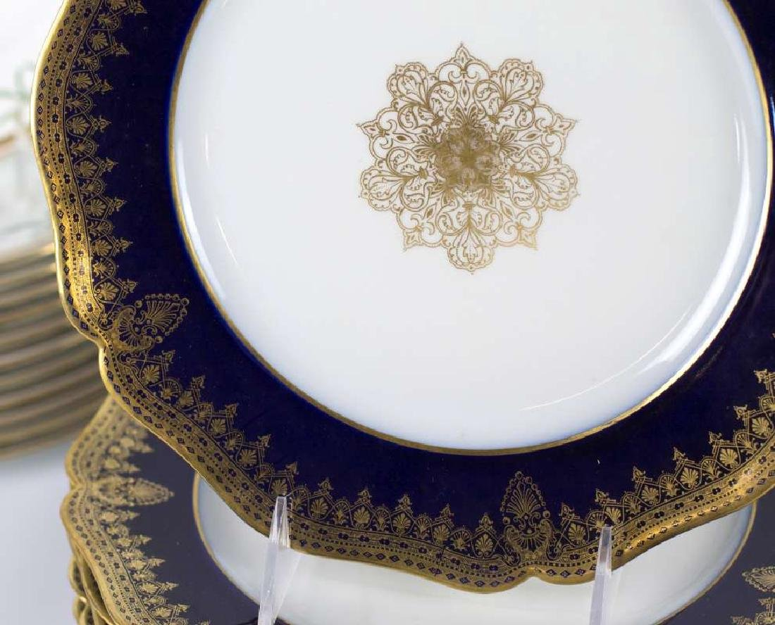 LIMOGES AND CROWN DERBY SERVICE PLATES - 2