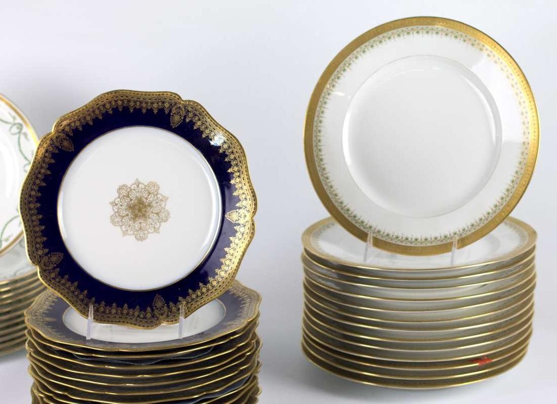 LIMOGES AND CROWN DERBY SERVICE PLATES - 3