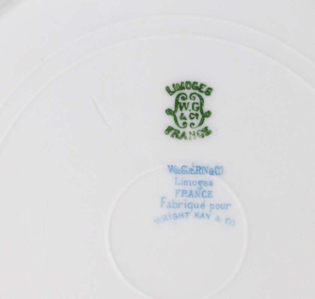LIMOGES AND CROWN DERBY SERVICE PLATES - 4