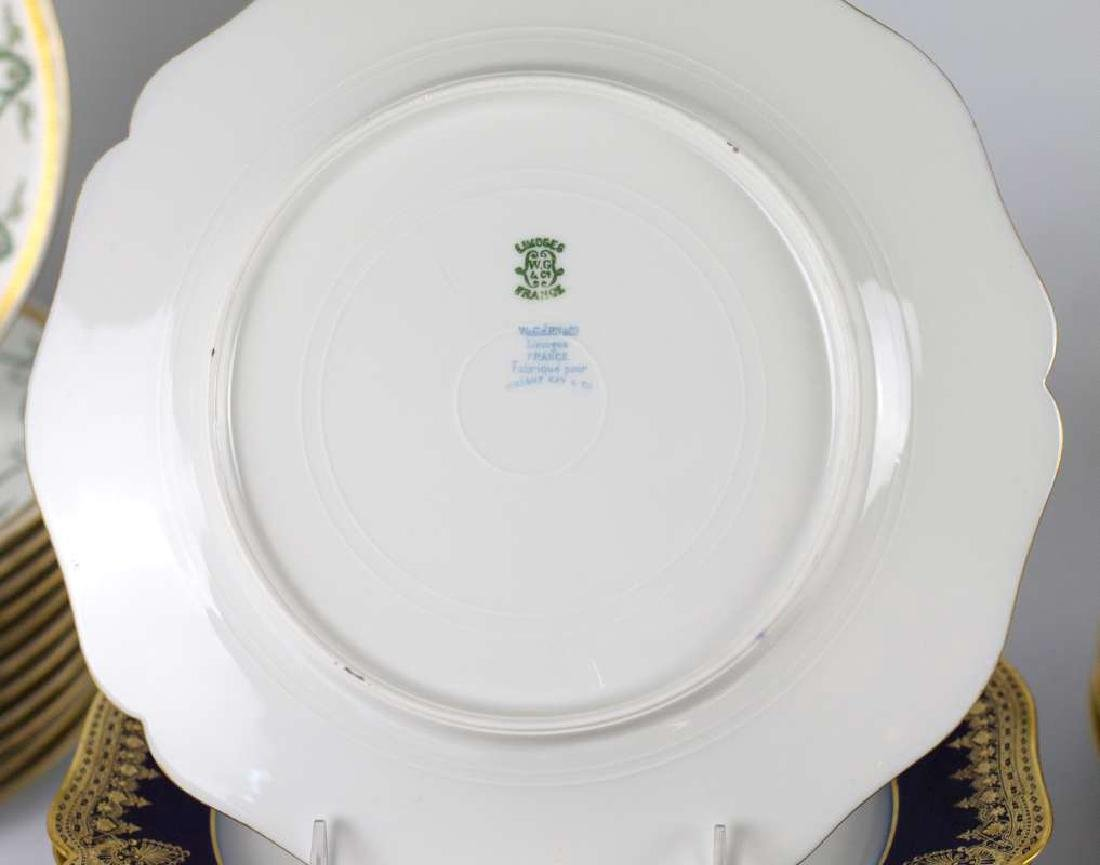 LIMOGES AND CROWN DERBY SERVICE PLATES - 5