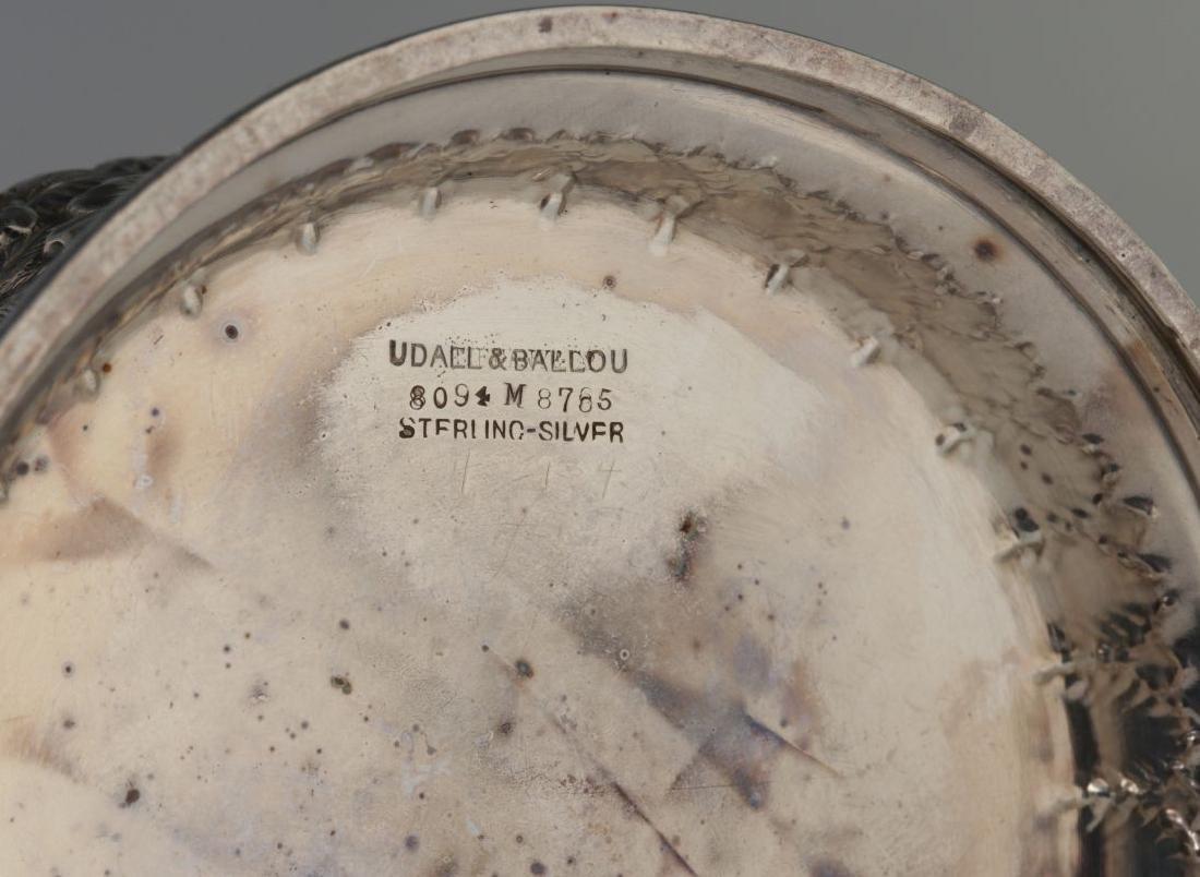 UDALL & BALLOU STERLING SILVER WINE BOTTLE COASTER - 8