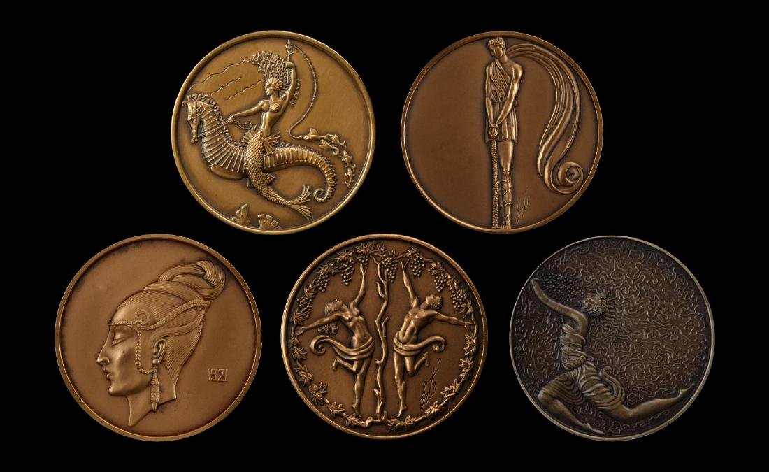 LATE 20TH CENTURY ERTE' BRONZE MEDALLIONS