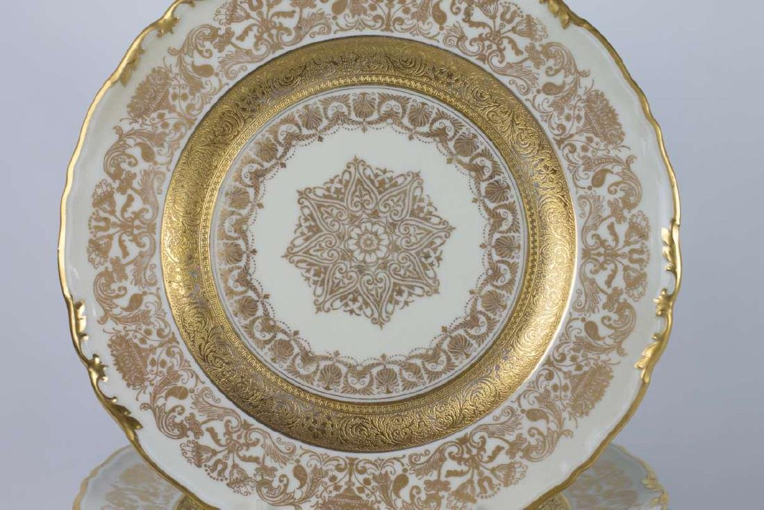 TWELVE EPIAG CORONET GOLD ENCRUSTED SERVICE PLATES - 2