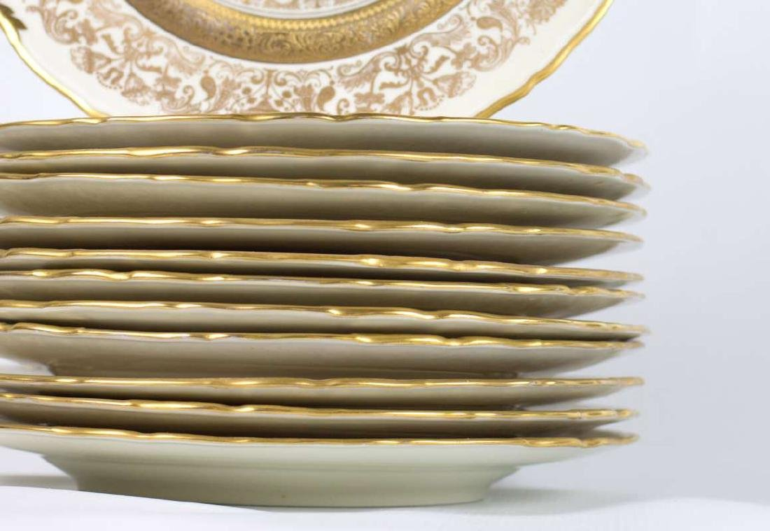 TWELVE EPIAG CORONET GOLD ENCRUSTED SERVICE PLATES - 3