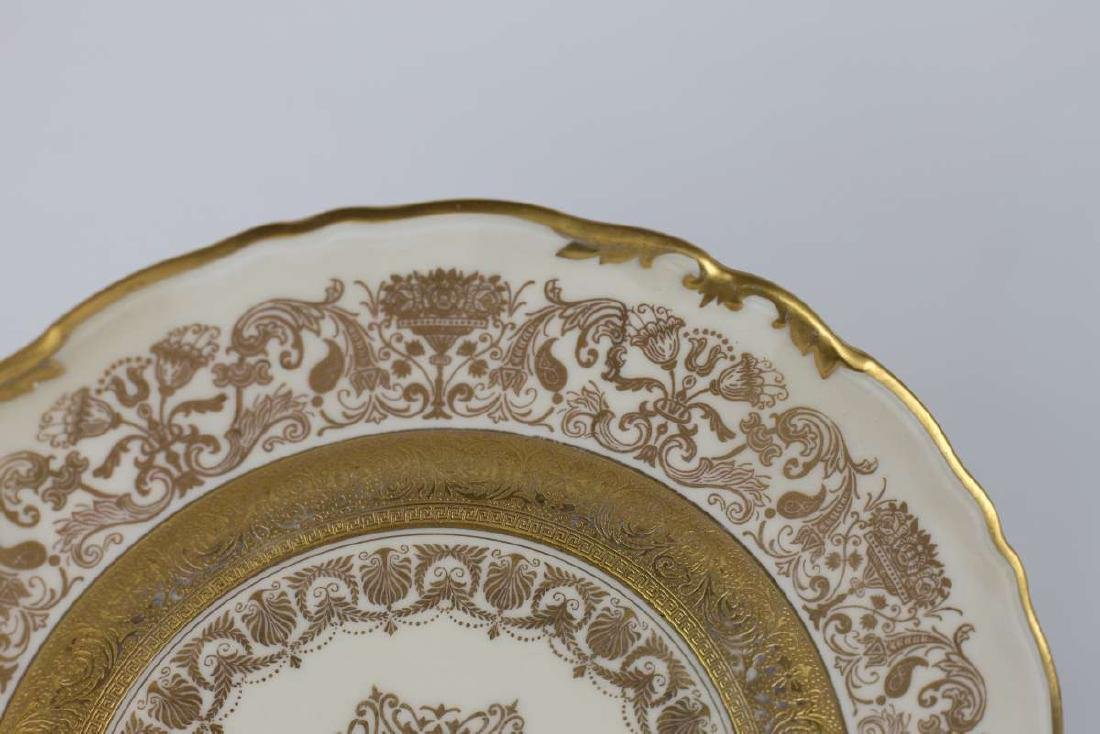 TWELVE EPIAG CORONET GOLD ENCRUSTED SERVICE PLATES - 4