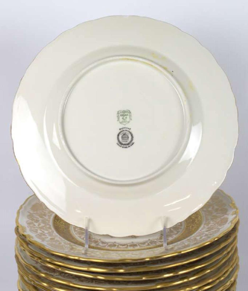TWELVE EPIAG CORONET GOLD ENCRUSTED SERVICE PLATES - 5