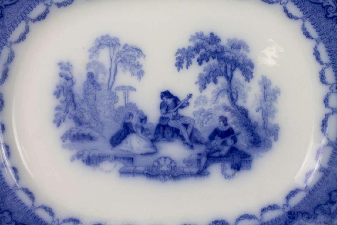 A WATTEUA PATTERN FLOW BLUE PATTER, PLUS ANOTHER - 2