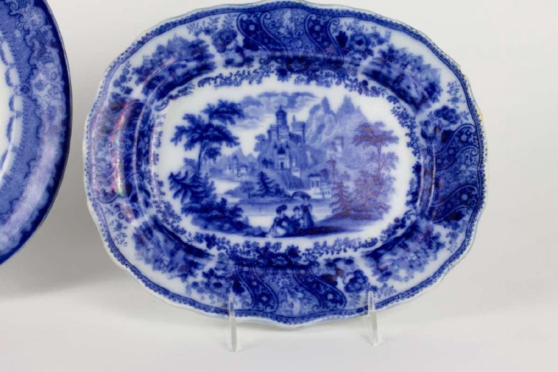 A WATTEUA PATTERN FLOW BLUE PATTER, PLUS ANOTHER - 3