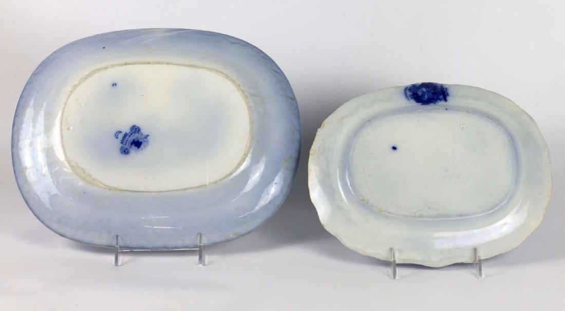 A WATTEUA PATTERN FLOW BLUE PATTER, PLUS ANOTHER - 5
