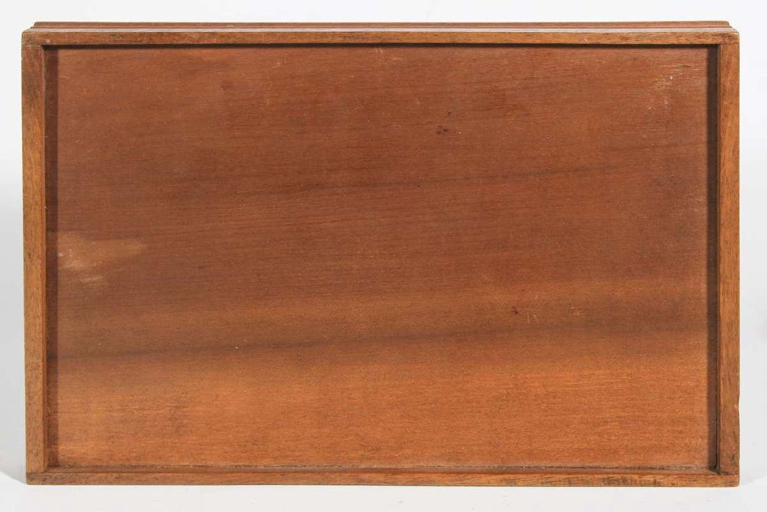 AN EARLY 20TH C. MARQUETRY TRAY WITH BUTTERFLIES - 7