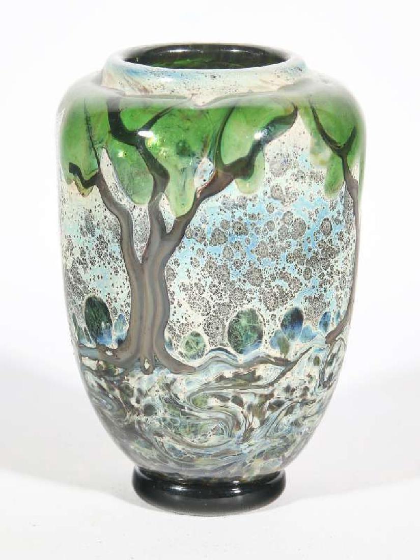 A JOHN NYGREN STUDIO GLASS VASE - 2