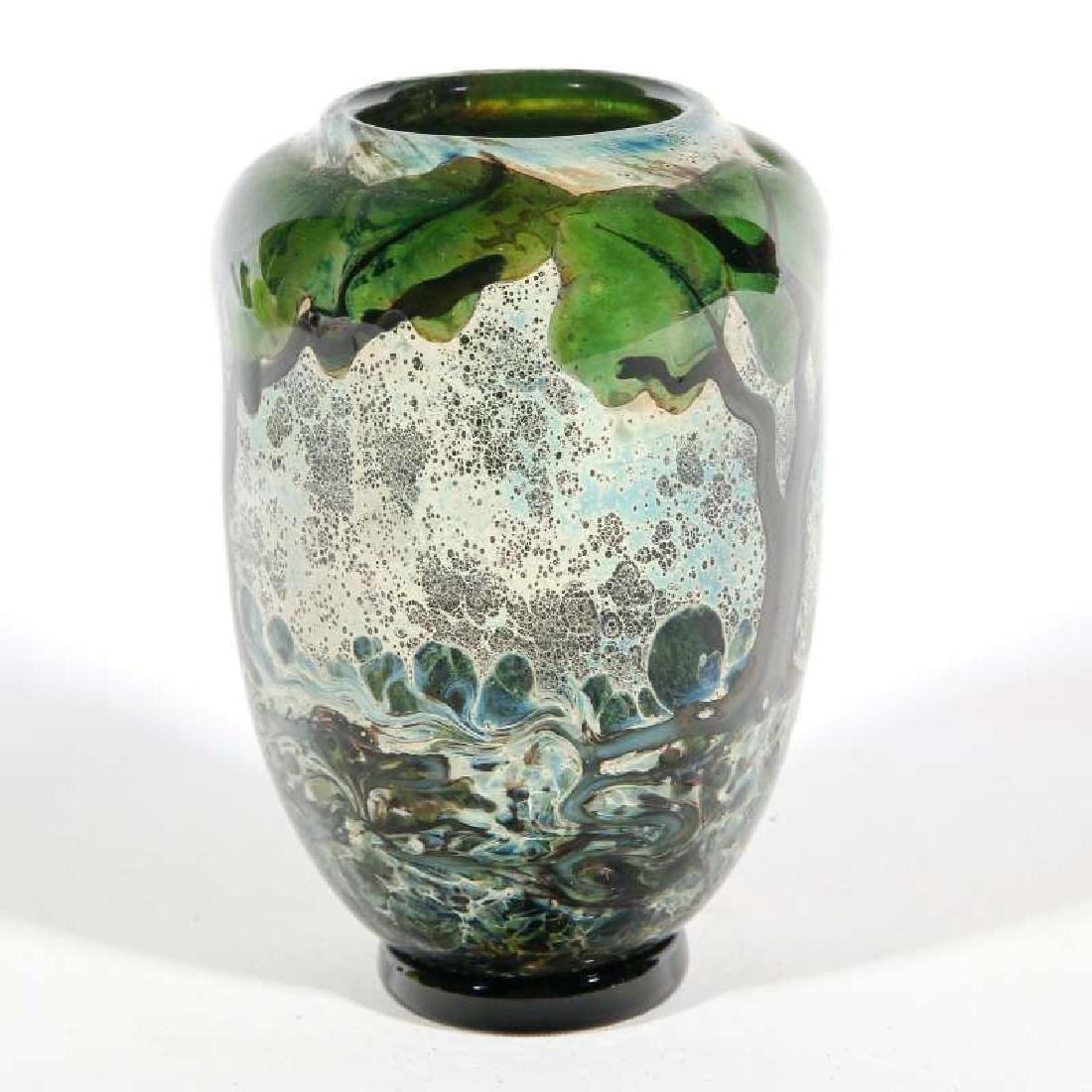 A JOHN NYGREN STUDIO GLASS VASE - 3