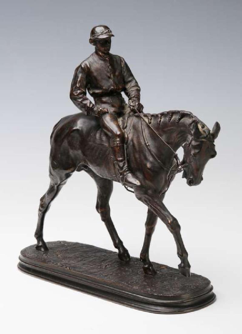 PIERRE JULES MENE (1810-1879) EQUESTRIAN BRONZE
