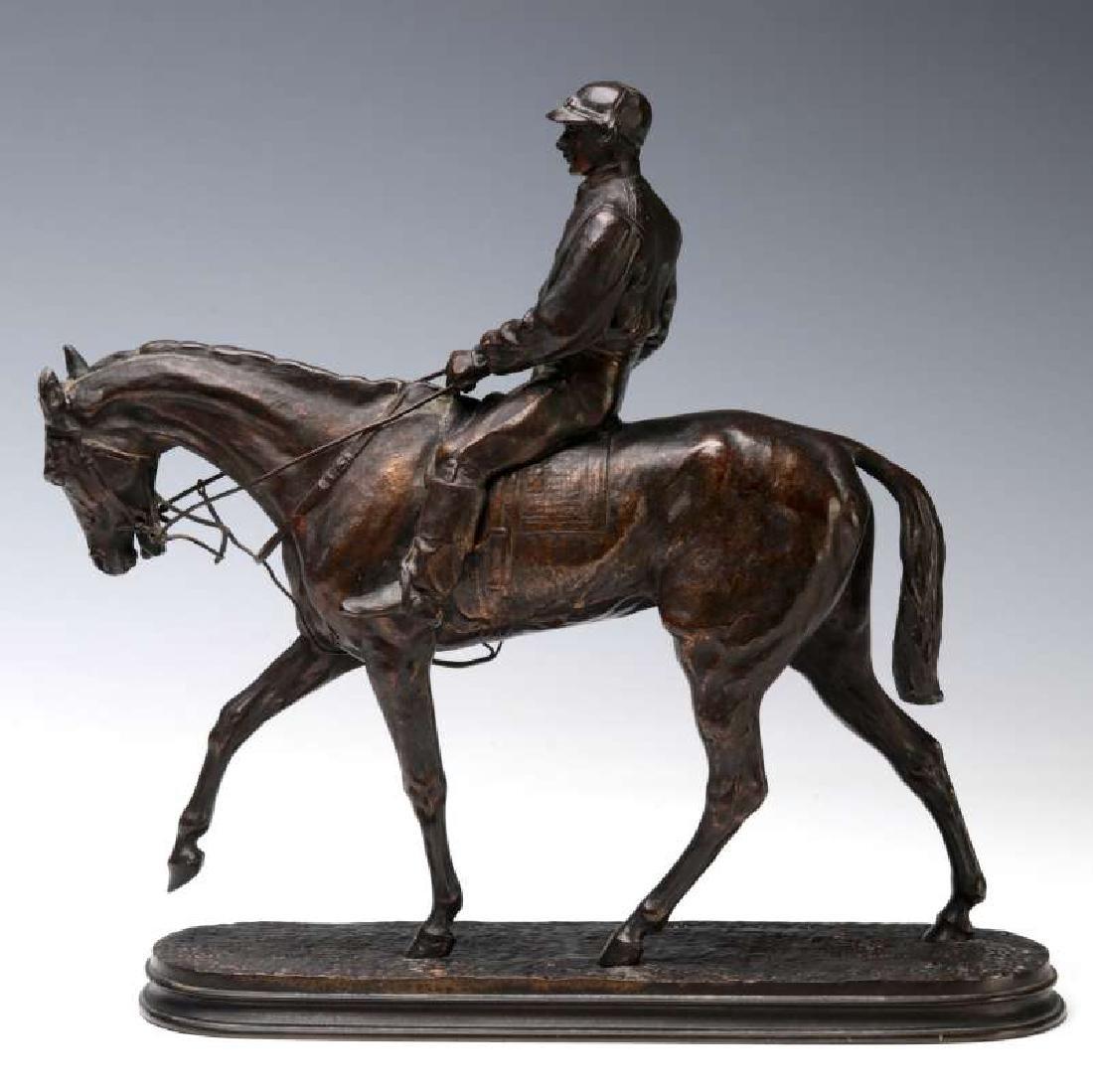 PIERRE JULES MENE (1810-1879) EQUESTRIAN BRONZE - 7