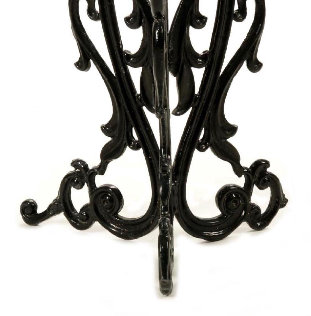 AN UNUSUAL VICTORIAN CAST IRON PLANTER ON STAND - 4
