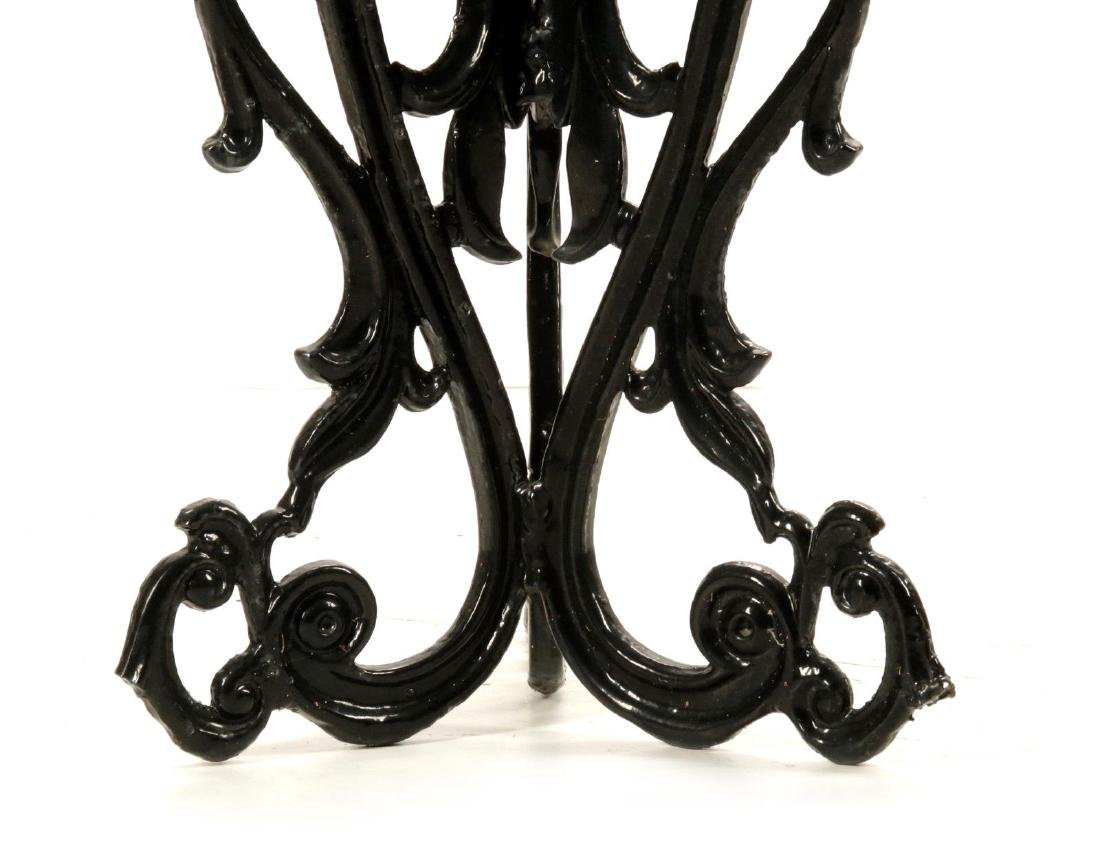 AN UNUSUAL VICTORIAN CAST IRON PLANTER ON STAND - 6