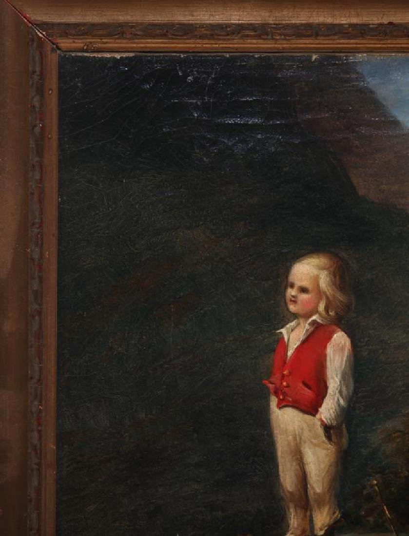 A CURIOUS MID 19TH CENTURY CONTINENTAL OIL ON CANVAS - 3