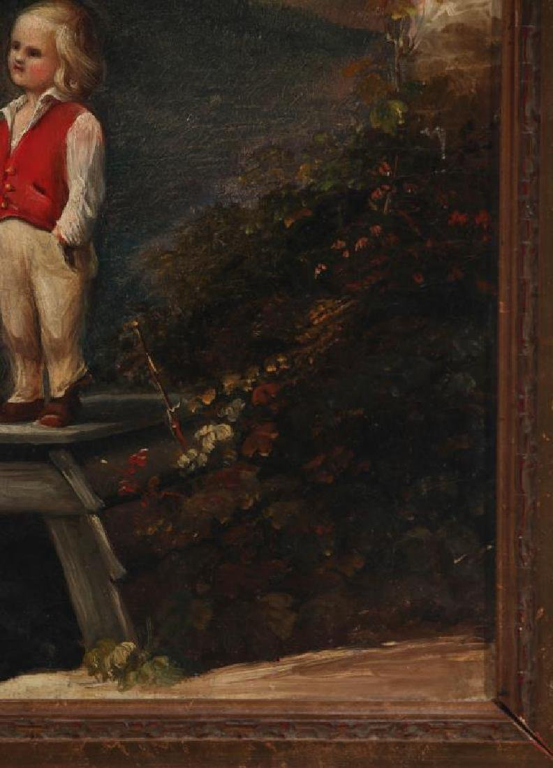 A CURIOUS MID 19TH CENTURY CONTINENTAL OIL ON CANVAS - 5