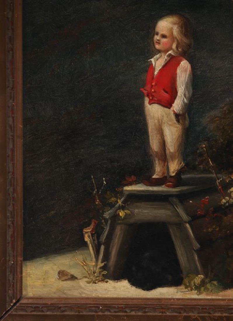 A CURIOUS MID 19TH CENTURY CONTINENTAL OIL ON CANVAS - 6