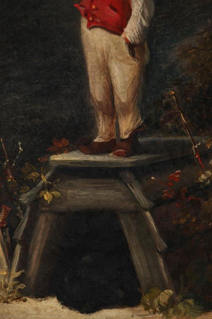 A CURIOUS MID 19TH CENTURY CONTINENTAL OIL ON CANVAS - 7